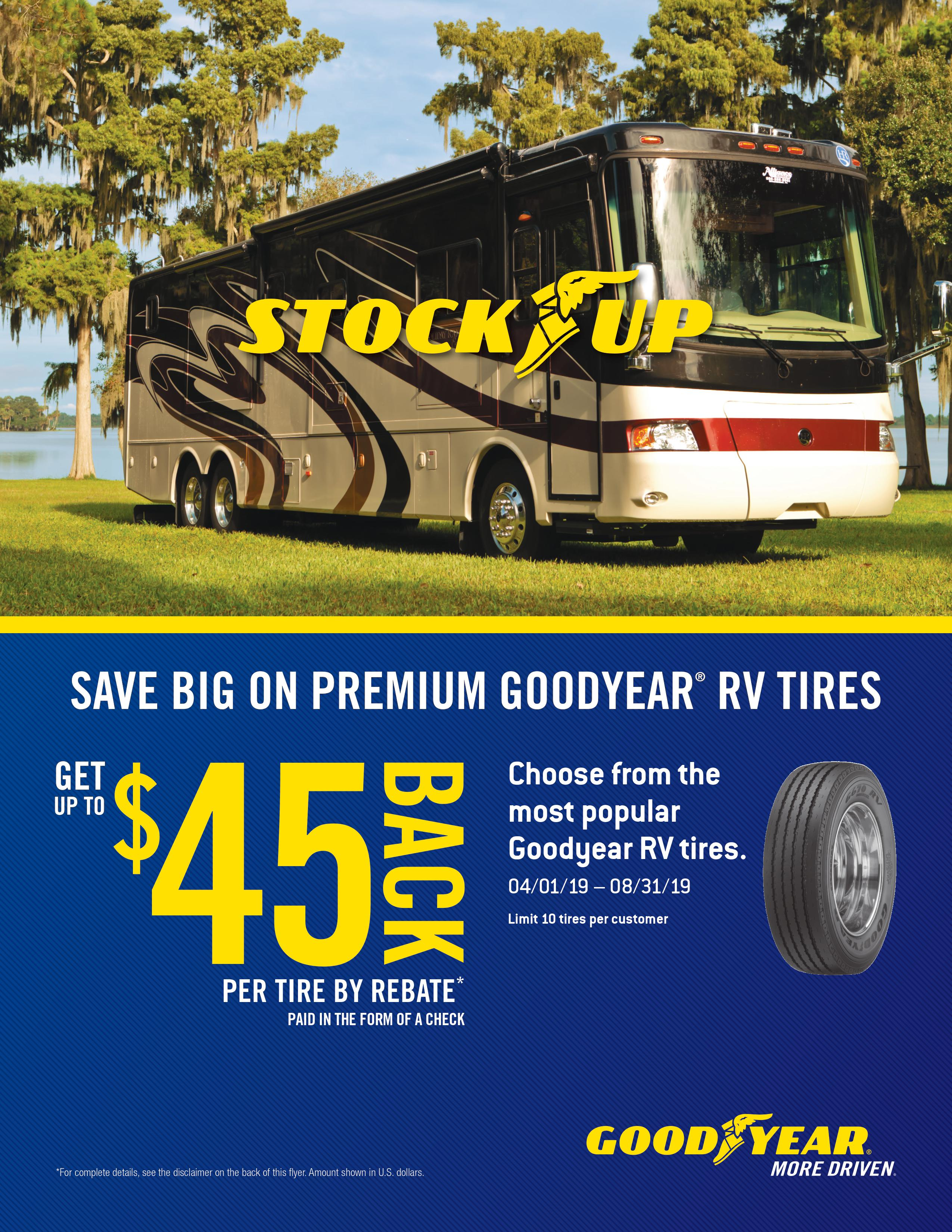Save Big on Premium Goodyear RV Tires